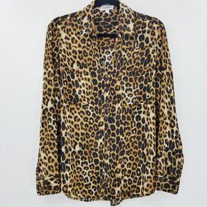 Express Portifino Leopard Print Button Up Shirt